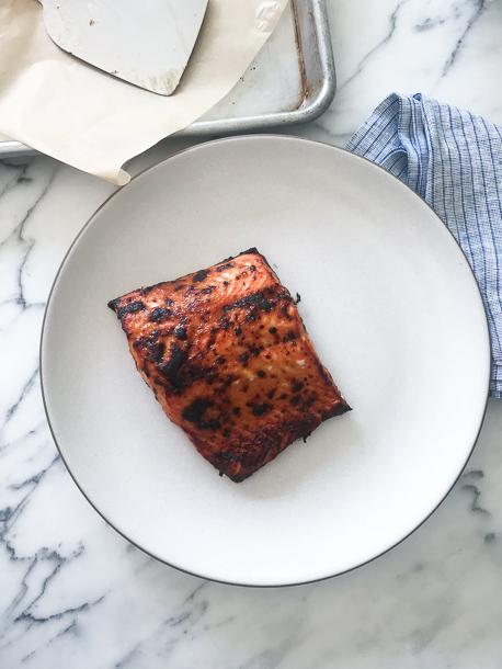 Brown Butter Miso-Glazed Wild Salmon