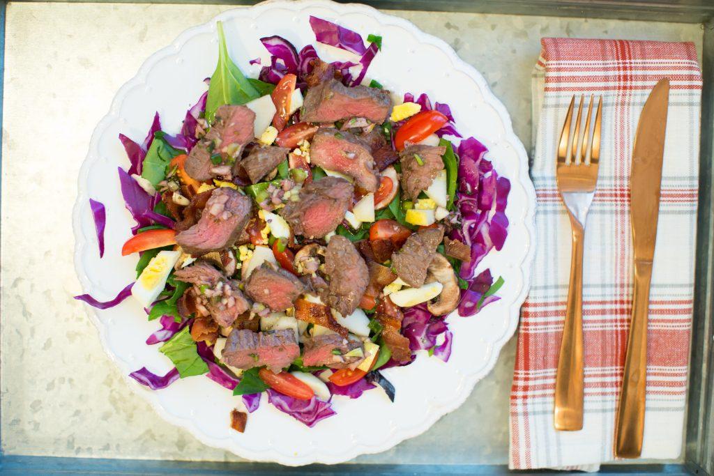 Herbed sirloin salad