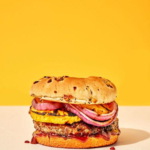 Hawaiian Barbecue Pork Burger