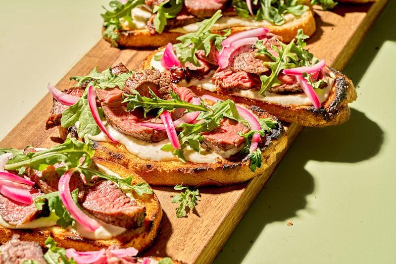 Open Faced Sirloin Steak Sandwich