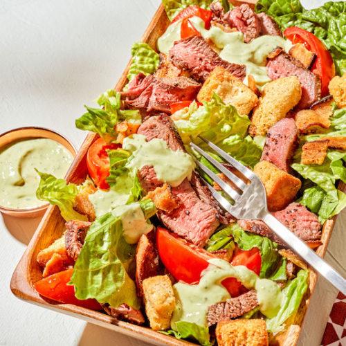 BLT Steak Salad with Avocado-Ranch Dressing